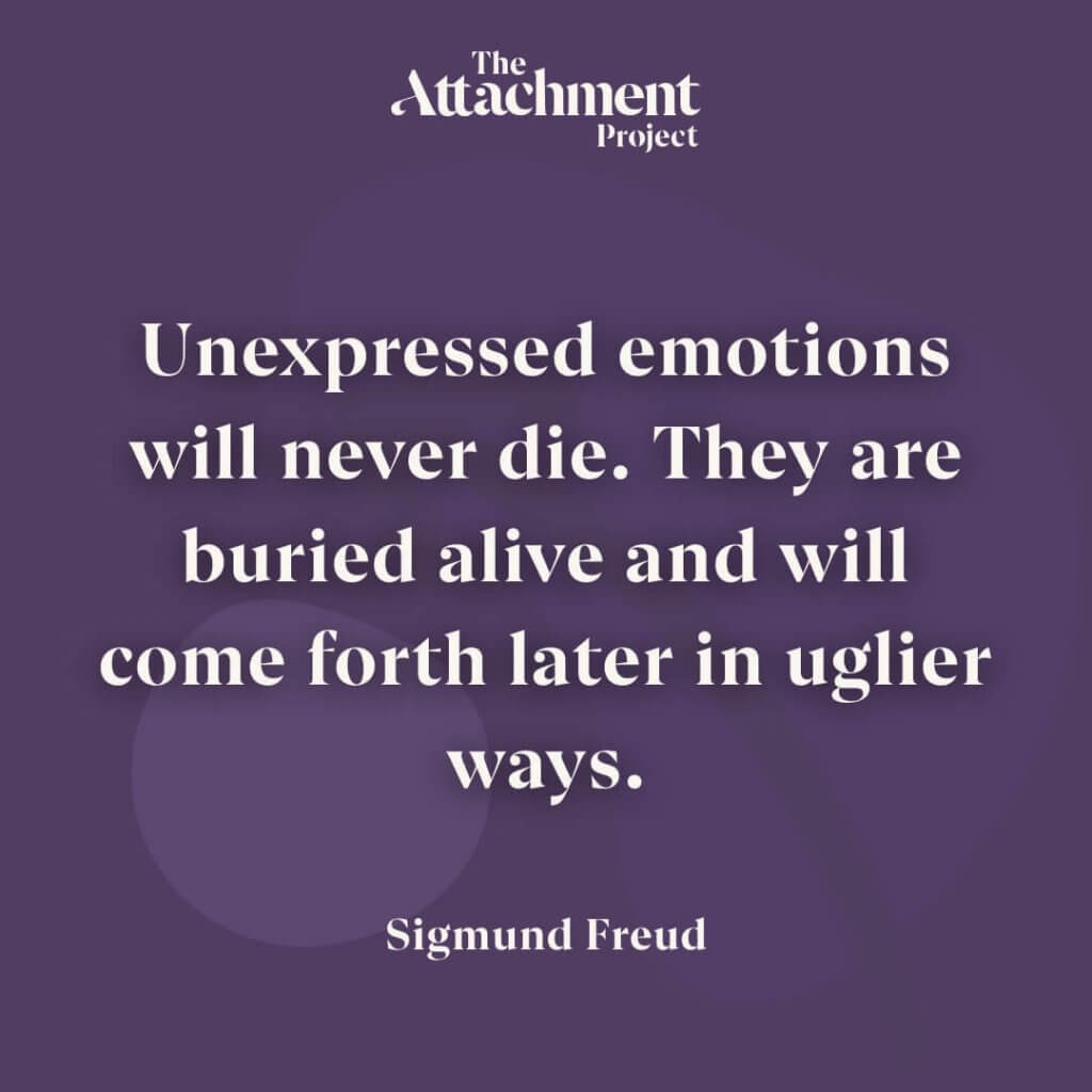 Attachment Project - Negative Feelings - Blog Post - Sigmund Freud Quote
