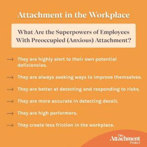 Anxious attachment style at work