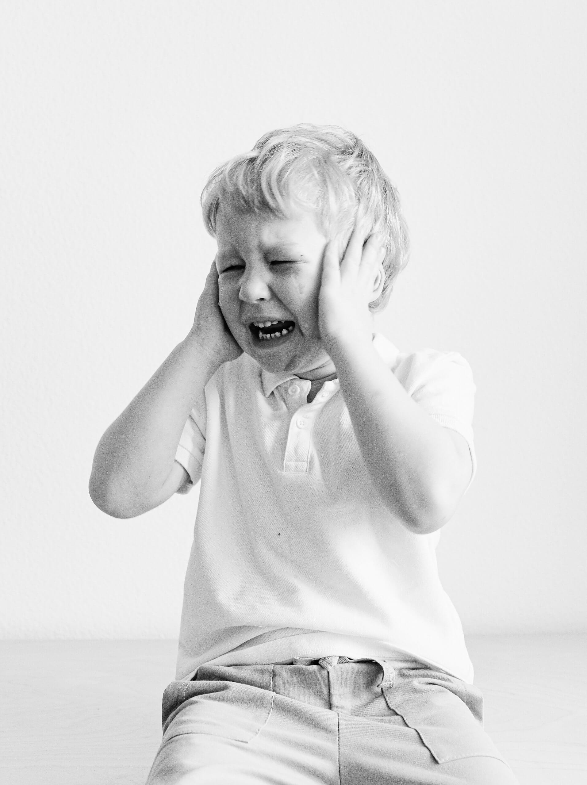 Disorganized Attachment - photo of young boy crying